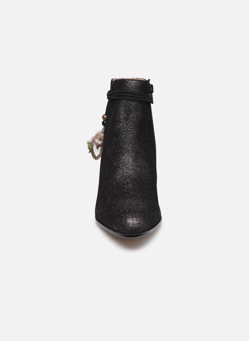 Bottines et boots Schmoove Woman Story Boots  Suede Metallic Noir vue portées chaussures