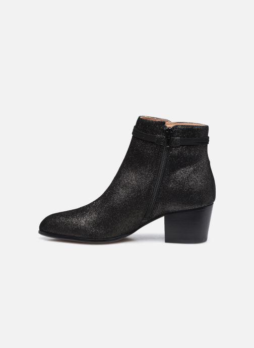 Bottines et boots Schmoove Woman Story Boots  Suede Metallic Noir vue face