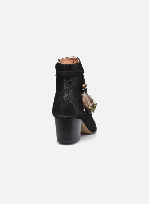 Bottines et boots Schmoove Woman Story Boots  Suede Metallic Noir vue droite