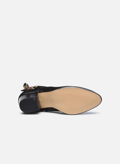 Bottines et boots Schmoove Woman Story Boots  Suede Metallic Noir vue haut