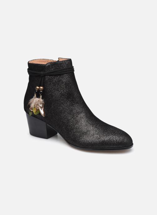 Bottines et boots Schmoove Woman Story Boots  Suede Metallic Noir vue détail/paire