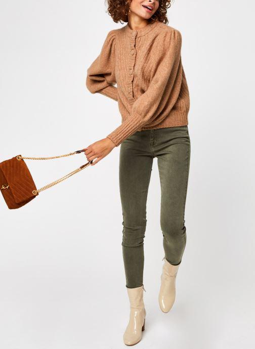 Vêtements Y.A.S Yastilda Knit Cardigan Marron vue bas / vue portée sac