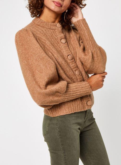 Vêtements Y.A.S Yastilda Knit Cardigan Marron vue droite