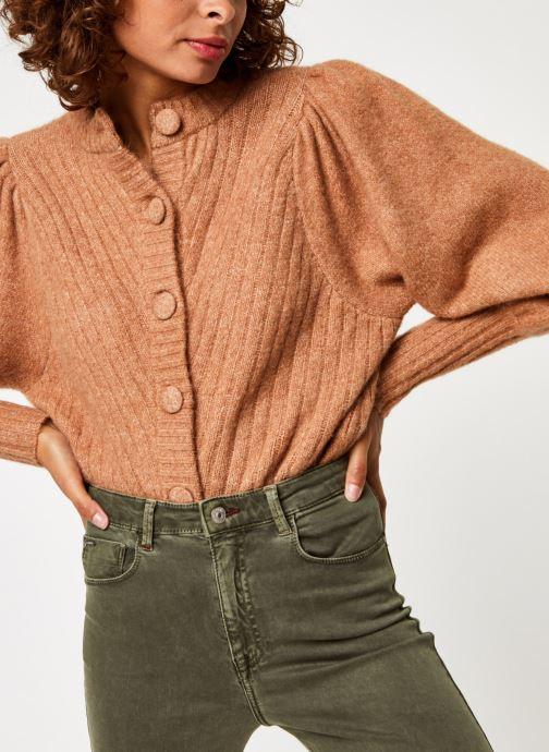 Vêtements Y.A.S Yastilda Knit Cardigan Marron vue détail/paire