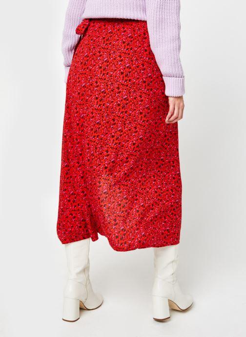 Vêtements Y.A.S Yasdahlia Wrap Ankle Skirt Rose vue portées chaussures