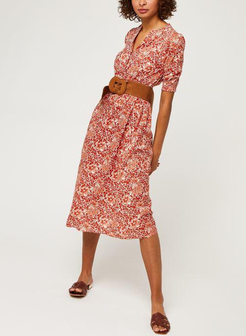 Vêtements Y.A.S Yasdamask 3/4 Midi Dress Rose vue bas / vue portée sac
