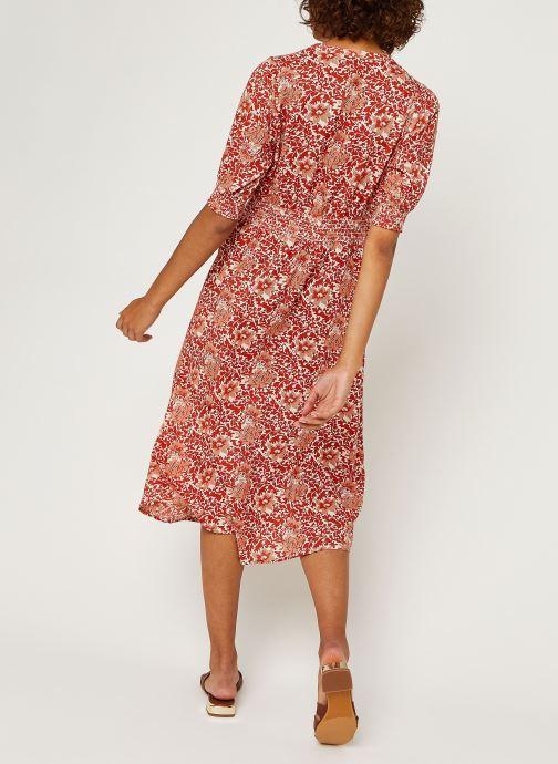 Vêtements Y.A.S Yasdamask 3/4 Midi Dress Rose vue portées chaussures