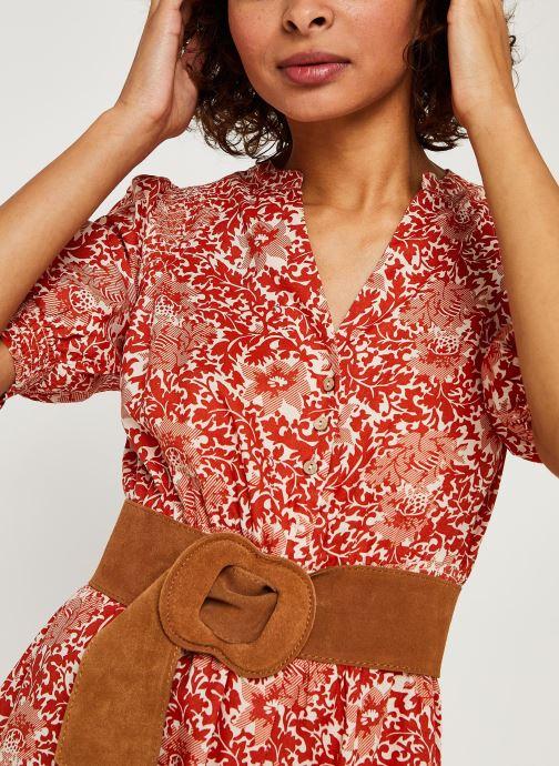 Vêtements Y.A.S Yasdamask 3/4 Midi Dress Rose vue face
