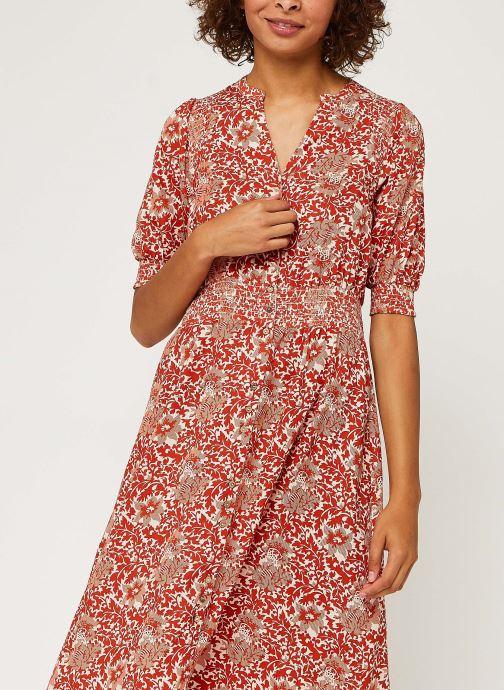 Vêtements Y.A.S Yasdamask 3/4 Midi Dress Rose vue droite