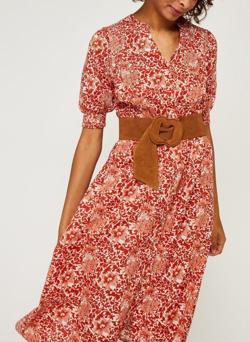 Vêtements Y.A.S Yasdamask 3/4 Midi Dress Rose vue détail/paire