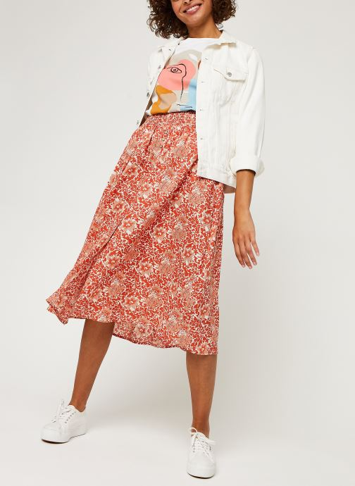 Vêtements Y.A.S Yasdamask Midi Skirt Rose vue bas / vue portée sac