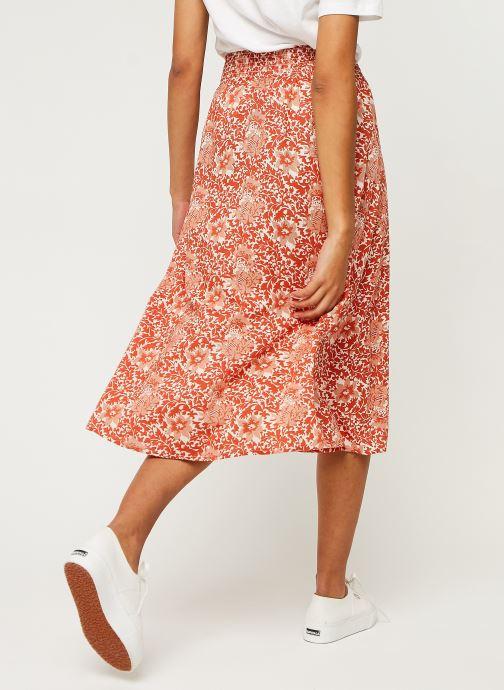 Vêtements Y.A.S Yasdamask Midi Skirt Rose vue portées chaussures
