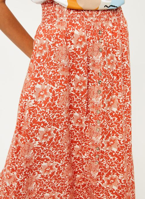 Vêtements Y.A.S Yasdamask Midi Skirt Rose vue face