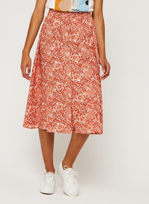 Vêtements Y.A.S Yasdamask Midi Skirt Rose vue détail/paire