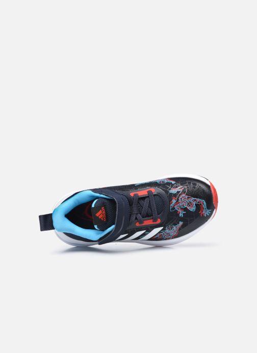 Deportivas adidas performance FortaRun Spiderman EL K Azul vista lateral izquierda