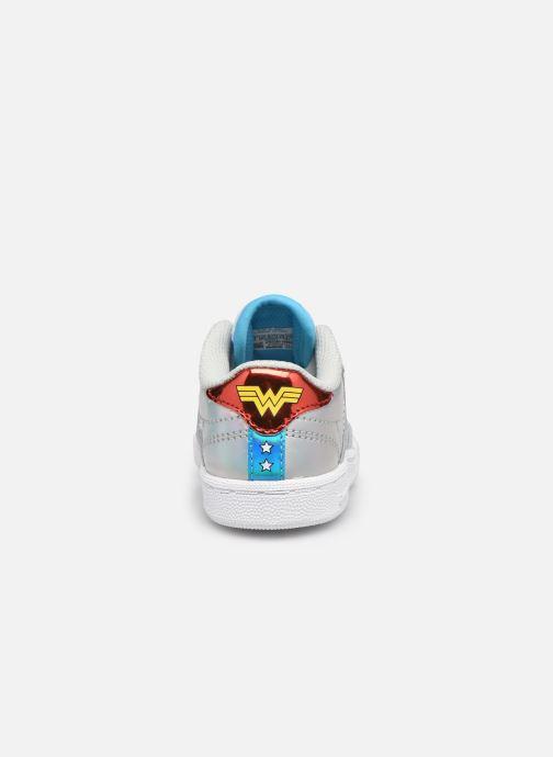 Deportivas Reebok Club C 85 x Wonder Woman infant Plateado vista lateral derecha