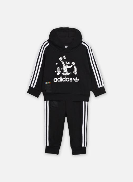 Vêtements adidas originals Goofy Hoodie I Noir vue détail/paire
