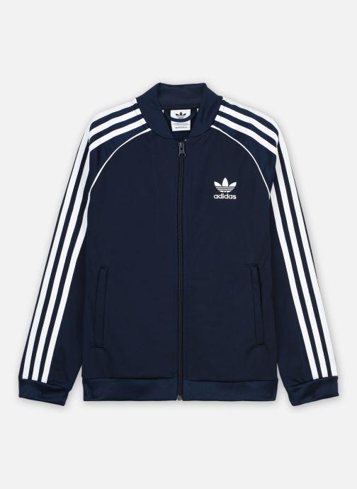 Vêtements adidas originals Sst Tracktop J Bleu vue détail/paire