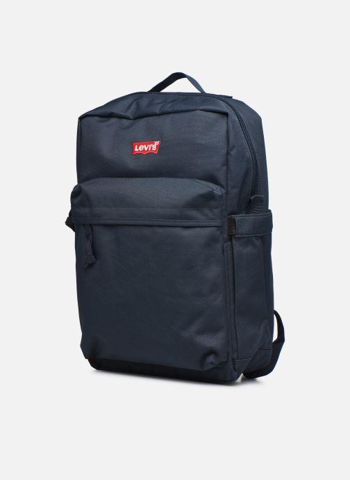 Mochilas Levi's Updated Levi's L Pack Standard Issue - Red Tab Sid Azul vista del modelo