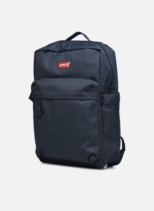 Sacs à dos Levi's Updated Levi's L Pack Standard Issue - Red Tab Sid Bleu vue portées chaussures
