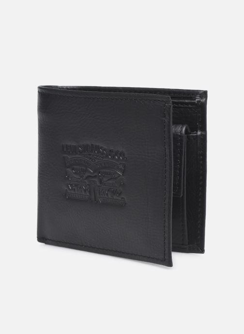 Marroquinería pequeña Levi's Vintage Two Horse Bifold Coin Wallet Negro vista del modelo