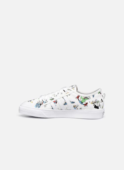 Sneaker adidas originals Nizza J X Disney Sport Goofy weiß ansicht von vorne