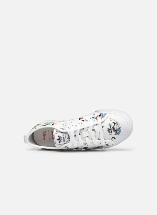 Sneaker adidas originals Nizza J X Disney Sport Goofy weiß ansicht von links