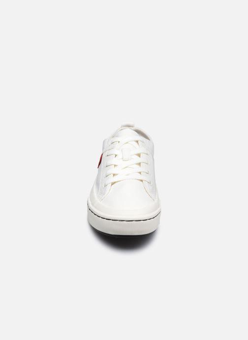 Sneaker Levi's Sherwood S Low weiß schuhe getragen