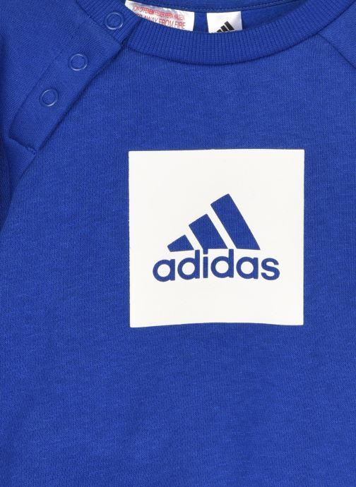 Vêtements adidas performance 3Slogo Jog Fl I Bleu vue face