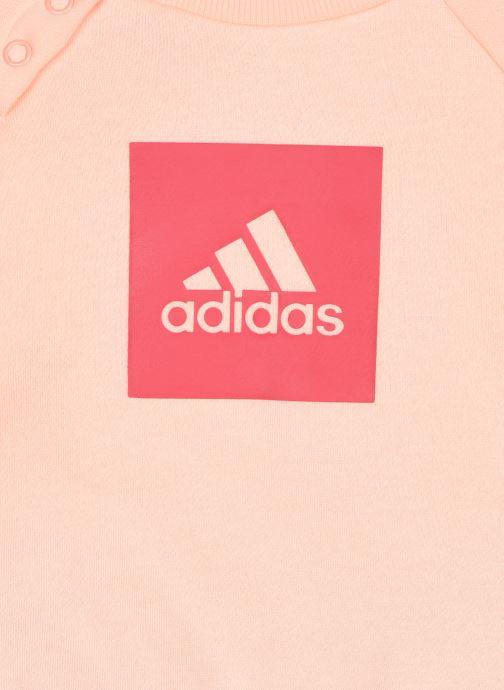Vêtements adidas performance 3Slogo Jog Fl I Rose vue face