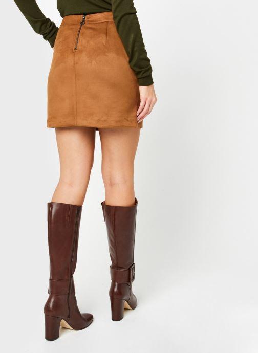 Vêtements Vero Moda Vmdonnadina Faux Suede Short Skirt Marron vue portées chaussures