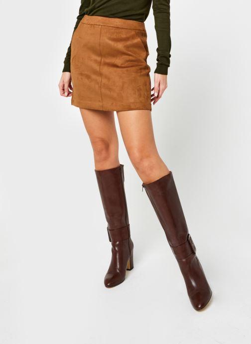 Vêtements Vero Moda Vmdonnadina Faux Suede Short Skirt Marron vue détail/paire