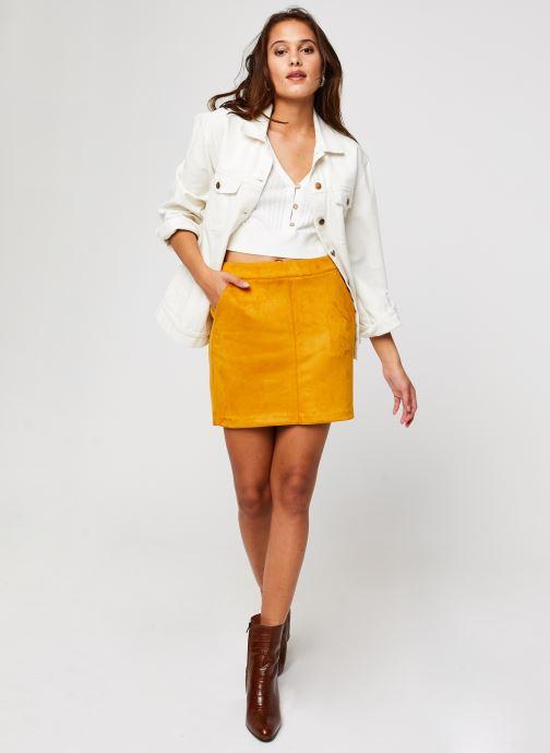 Vêtements Vero Moda Vmdonnadina Faux Suede Short Skirt Marron vue bas / vue portée sac