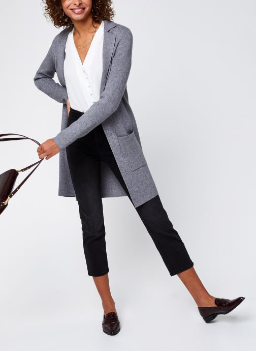 Vêtements Vero Moda Vmtasty Fullneedle New Coatigan Gris vue bas / vue portée sac
