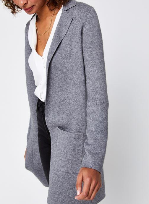 Vêtements Vero Moda Vmtasty Fullneedle New Coatigan Gris vue détail/paire