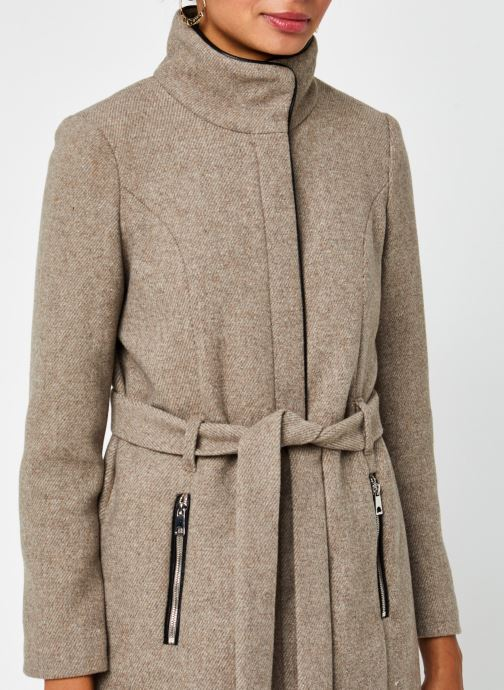 Vêtements Vero Moda Vmclassbessy Wool Jacket Beige vue face