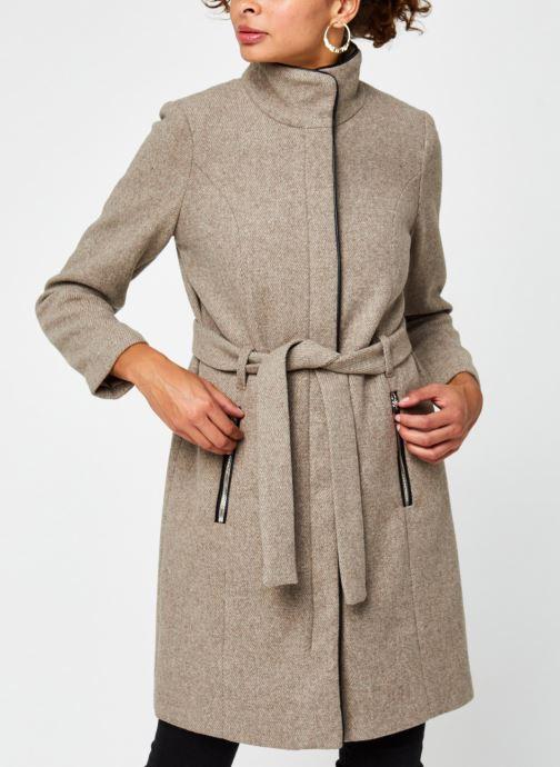 Vêtements Vero Moda Vmclassbessy Wool Jacket Beige vue droite