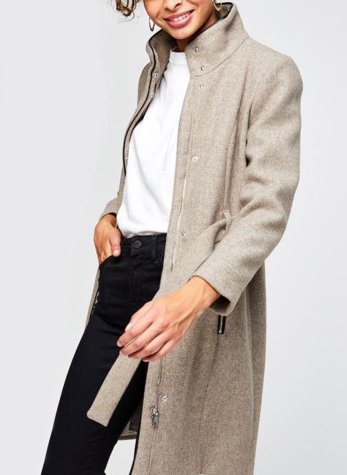 Vêtements Vero Moda Vmclassbessy Wool Jacket Beige vue détail/paire