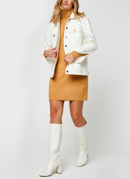 Vêtements Vero Moda Vmbrilliant Rollneck Dress Color Marron vue bas / vue portée sac
