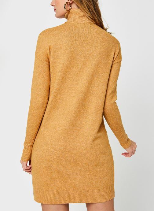 Vêtements Vero Moda Vmbrilliant Rollneck Dress Color Marron vue portées chaussures
