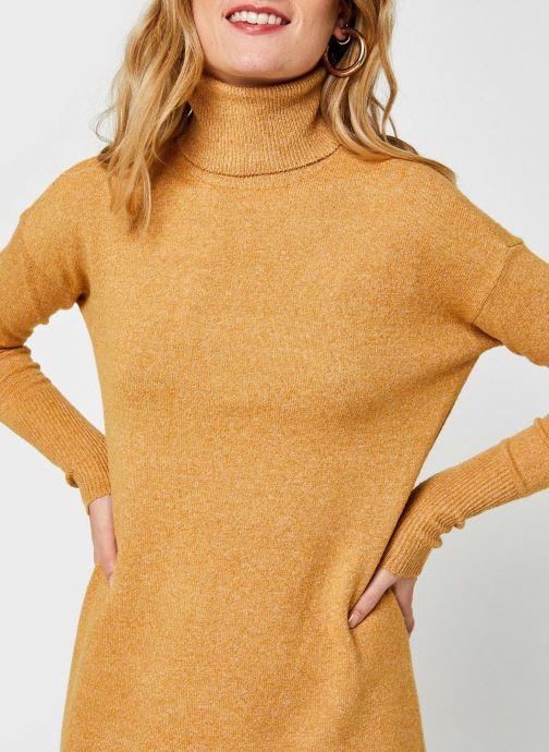 Vêtements Vero Moda Vmbrilliant Rollneck Dress Color Marron vue face