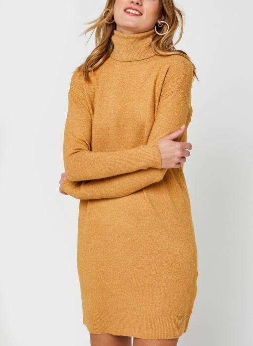 Vêtements Vero Moda Vmbrilliant Rollneck Dress Color Marron vue droite