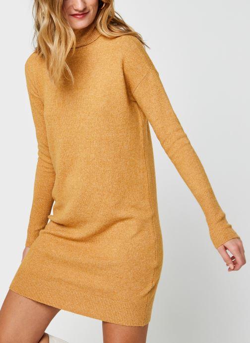 Vêtements Vero Moda Vmbrilliant Rollneck Dress Color Marron vue détail/paire