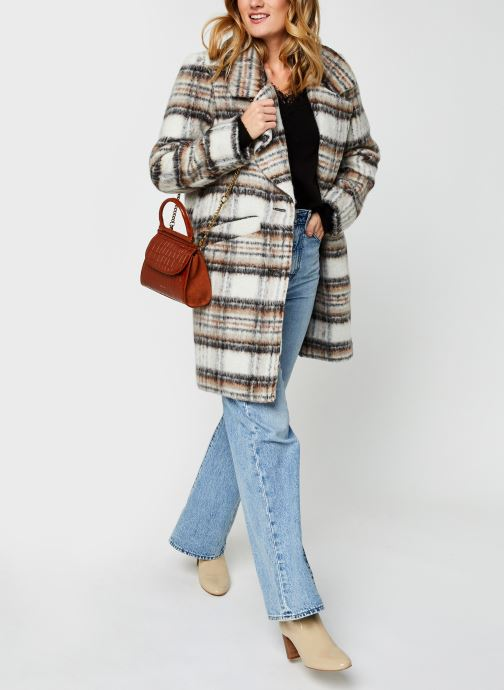 Vêtements Vero Moda Vmiva V-Neck Lace Blouse Color Noir vue bas / vue portée sac
