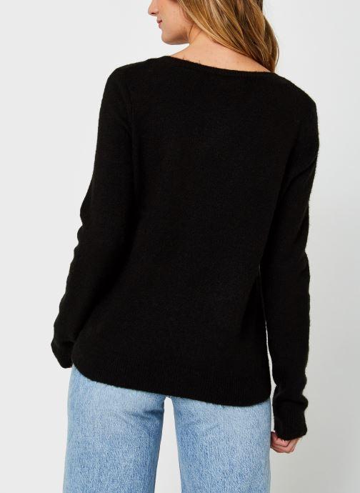 Vêtements Vero Moda Vmiva V-Neck Lace Blouse Color Noir vue portées chaussures