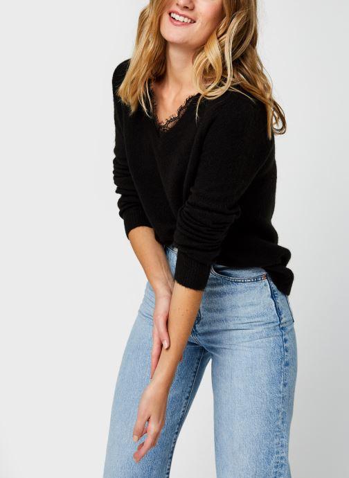 Vêtements Vero Moda Vmiva V-Neck Lace Blouse Color Noir vue détail/paire