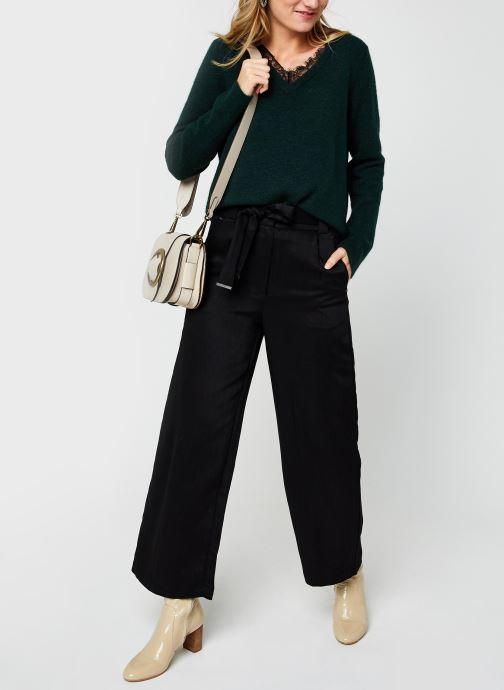 Vêtements Vero Moda Vmiva V-Neck Lace Blouse Color Vert vue bas / vue portée sac