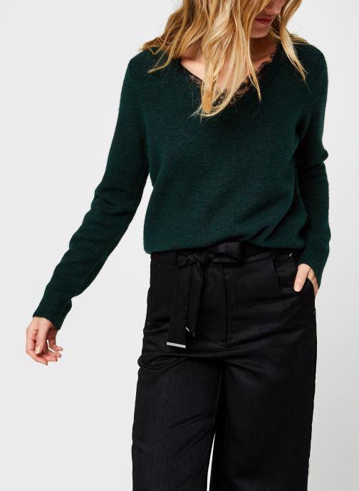 Vêtements Vero Moda Vmiva V-Neck Lace Blouse Color Vert vue détail/paire