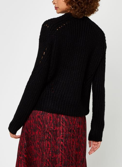 Vêtements Vero Moda Vmpaca Pointelle O-Neck Blouse Noir vue portées chaussures