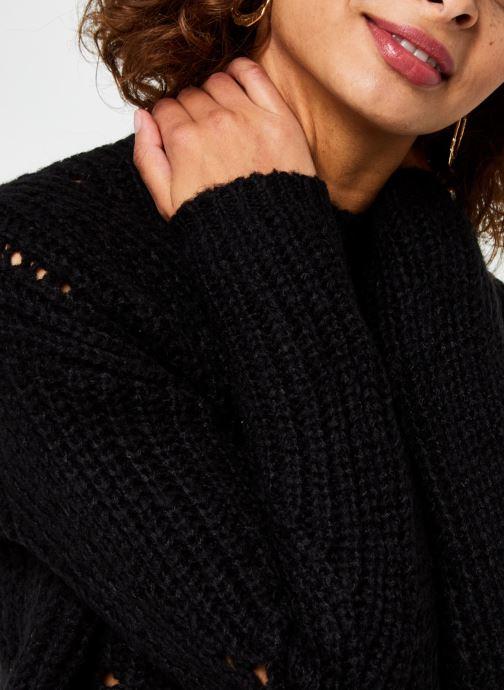 Vêtements Vero Moda Vmpaca Pointelle O-Neck Blouse Noir vue face